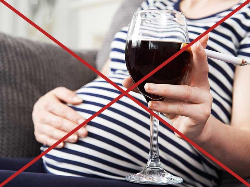 Отказ от курения и алкоголя при беременности