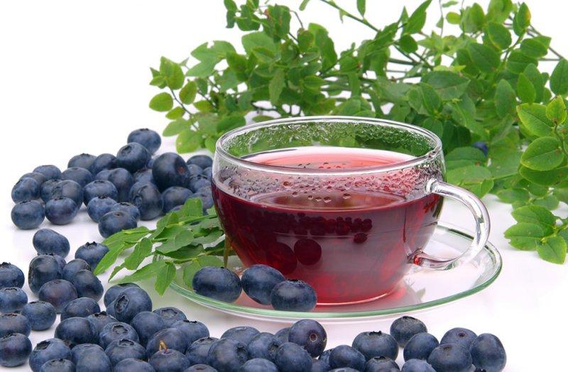Чай из плодов черники