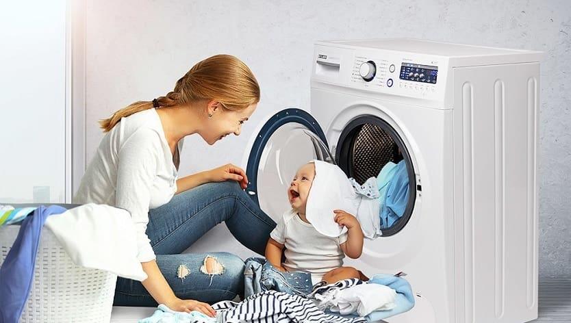 Машинная стирка детской одежды