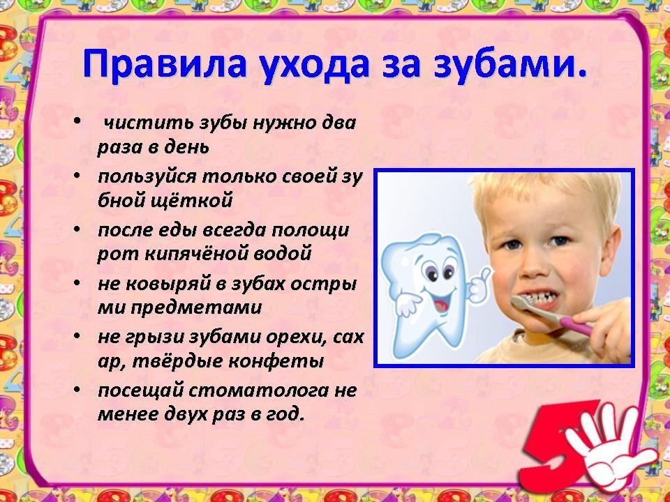 Правила по уходу за зубами